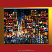 New arrival city canvas picture reproduction oil painting