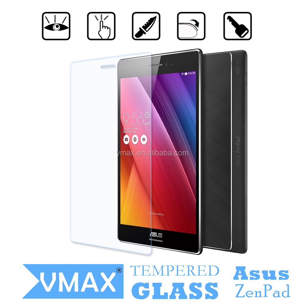 Factory Price!0.20mm 2.5D 9H Ultra clear Anti-shock Super High Quality Tempered Glass Screen Protector for Asus ZenPad s 8.0
