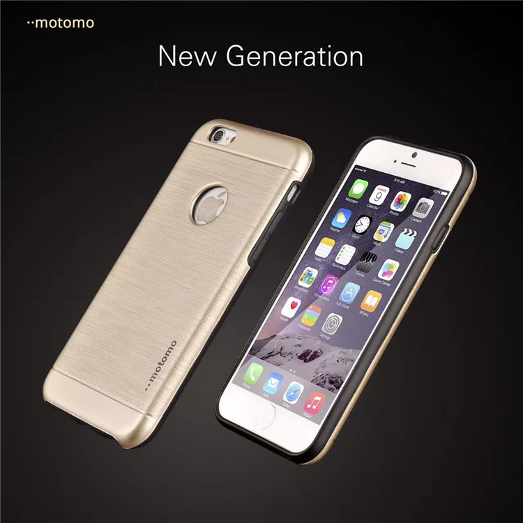 Motomo Luxury Aluminum Cases Metal Brush Plastic Covers Hard Back Case for iPhone 5 5s SE 6 6s 6s Plus Metal Cover Cases
