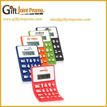 Promotional Printed LOGO Silicon Solar Foldable Calculator