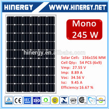 solar modules 245wp pv solar panel 245w pv panel 245w solar panel with CE certificate