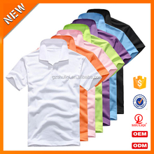 Top quality mens fashion t shirt blank short sleeve polo t shirt cotton/polyester