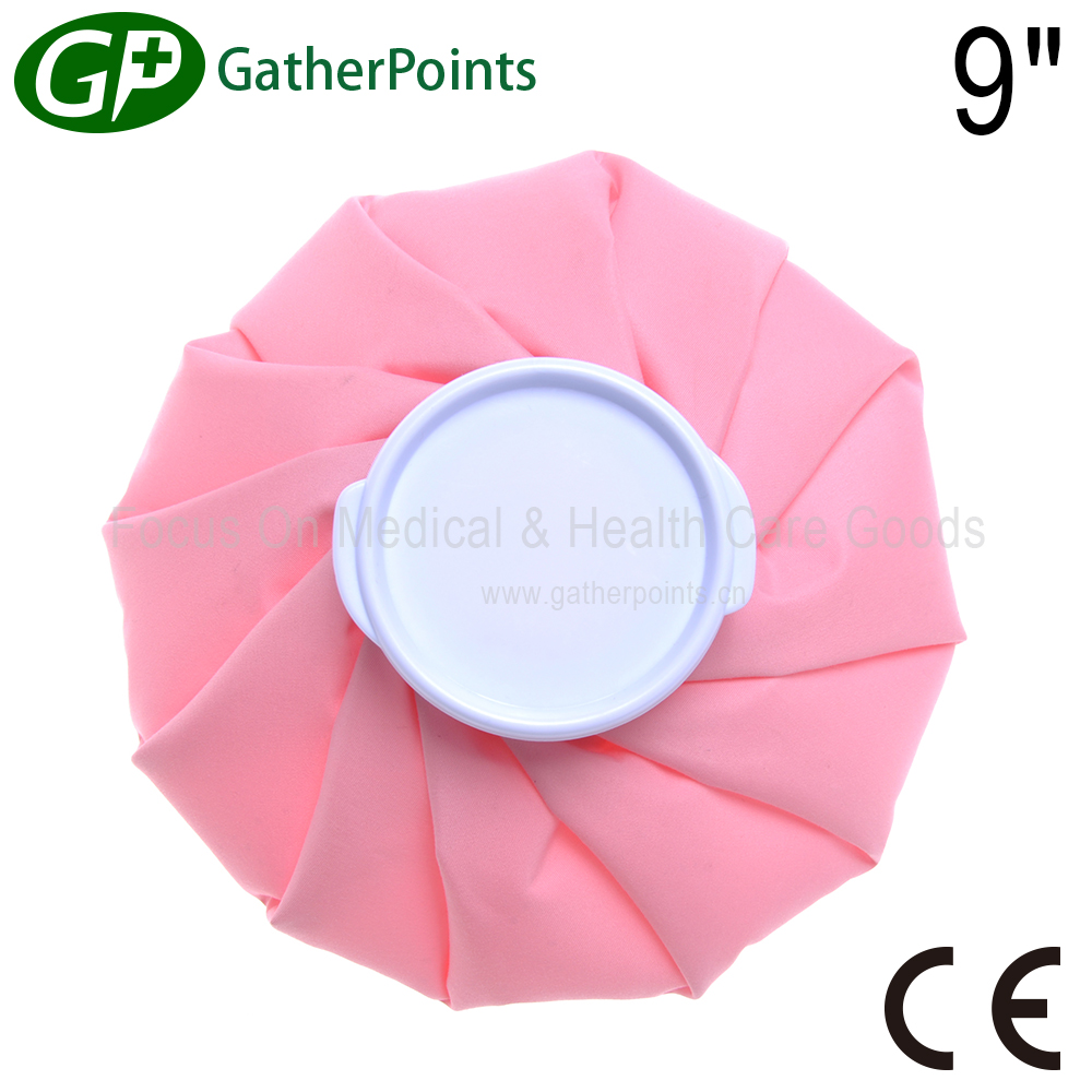 CE Approved Pink Color Medical Fabric Ice Bag for headache