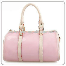 Wholesale latest fashion jelly pink clear trend leather personal handbag