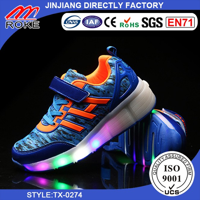 Led Light Running Shoes with Single Wheel LED Light shoes For Sale