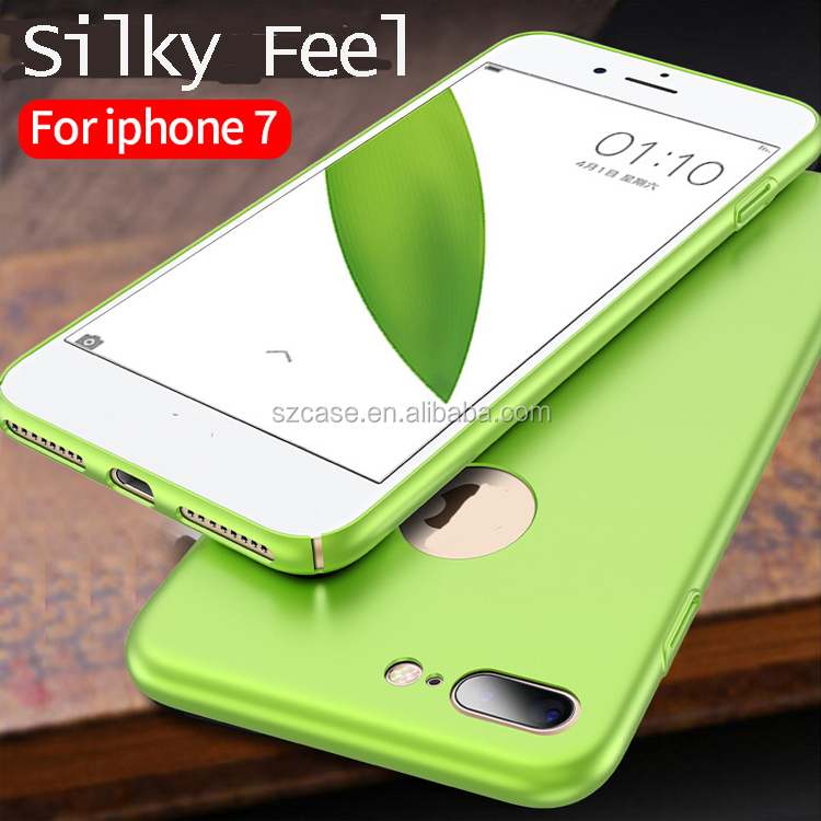 Silky feel or matte ultra-thin hard pc mobile phone case for iphone 7 soft electroplating tpu back cover case for iphone 7