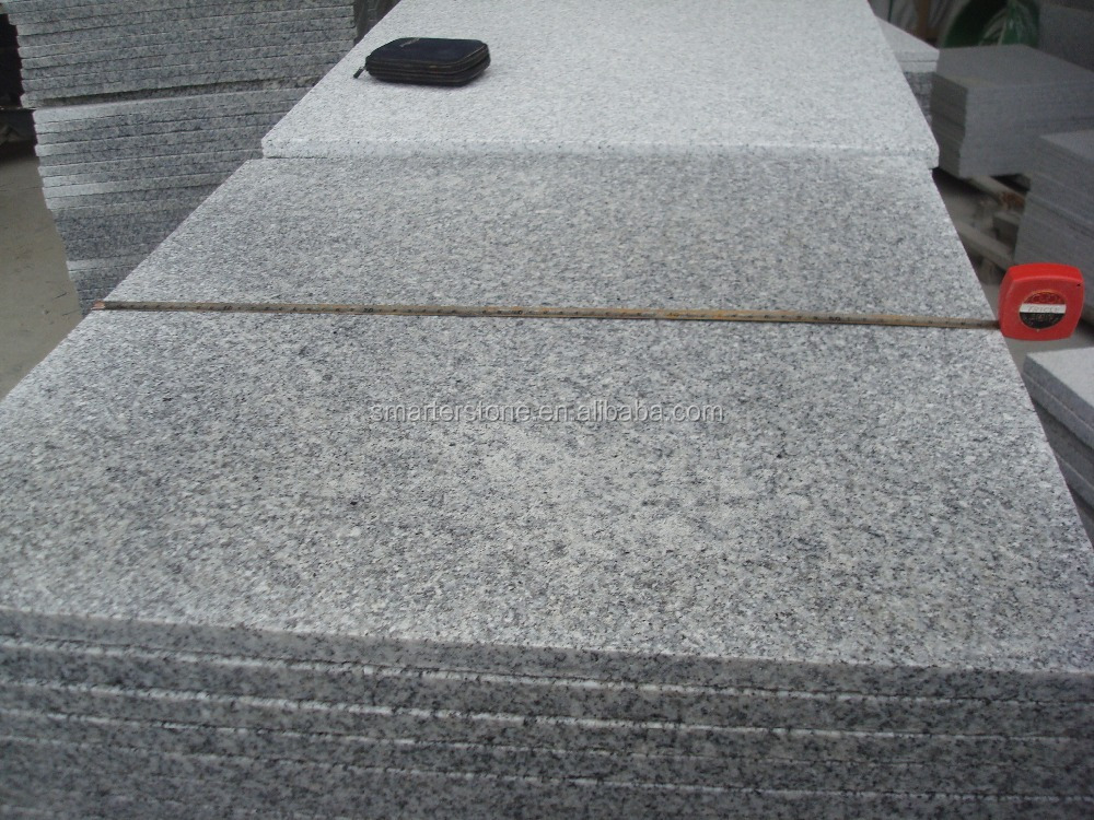 Royal White Granite Tiles Light Grey Granite Flamed Tiles