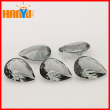 Crystallized glass stone artificial stone type grey synthetic gems