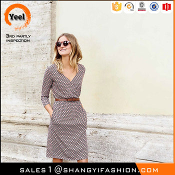 YEEL hot selling products elegant Mother of Bride 52% modal 48% cotton dress women