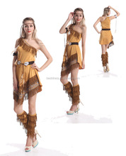 Ladies pocahontas native american indian wild west fancy dress costume party sml xl 2xl 3xl