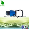Easy use agriculture drip irrigation tape fitting plastic blue lock end cap