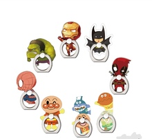 Cell phone accessories for Cartoon super hero silicone finger ring phone holder Grip Cute 360 Rotating Ring