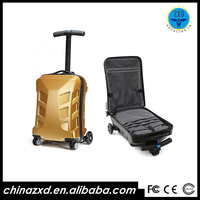 China supplier trolley bags folding skateboard scooter with three strong wheels