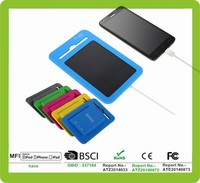 2015 fashion 5 colors whole silicone shell waterproof 5000mah solar charger portable charger solar for all smartphones