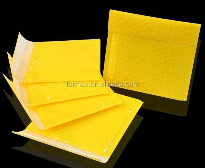 2015 Farmax china wholesale custom eco-friendly yellow kraft bubble padded envelopes