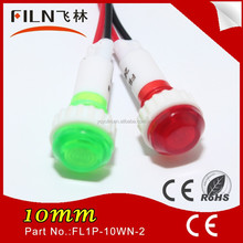 Wenzhou CE new style 100pcs/lot 10mm yellow 12v industrial indicator light