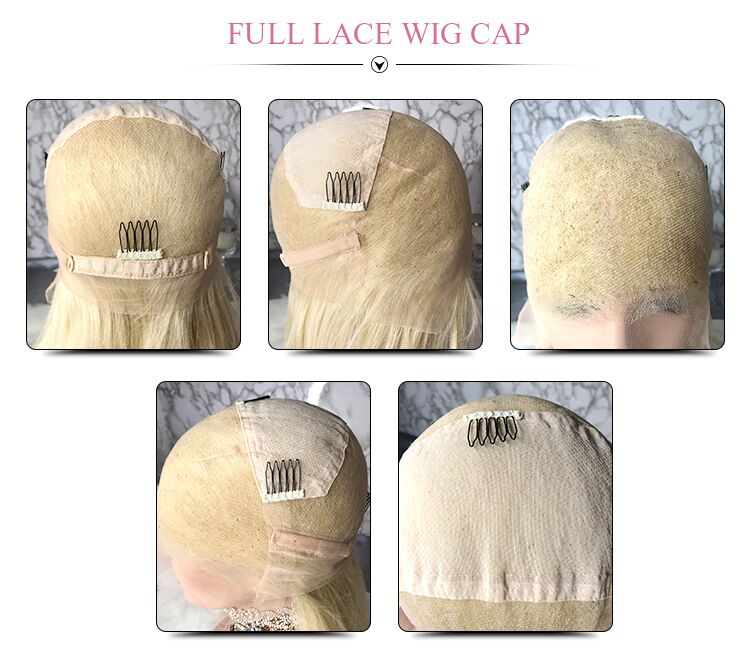 Honey Blonde Glueless Brazilian Virgin Hair Lace Front Wigs With Highlights