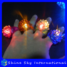 Light up flashing ring promotional gifts soft strawberry multicolors flashing ring