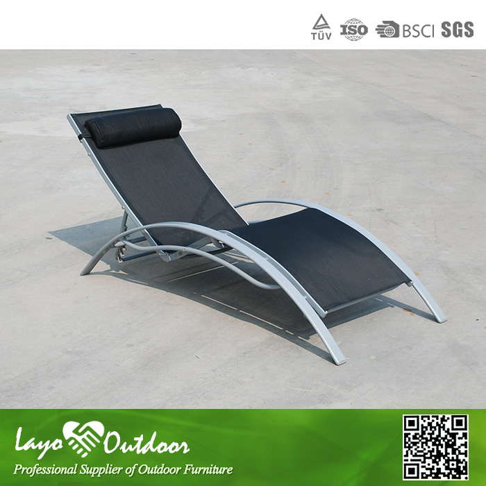 In time delivery casual seaside lounger aluminum folding for Aluminum web chaise lounge