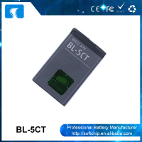 Cheap li-ion battery 3.7V 1050mAh BL-5CT for Nokia 5220 5220XM 6303C 7630C