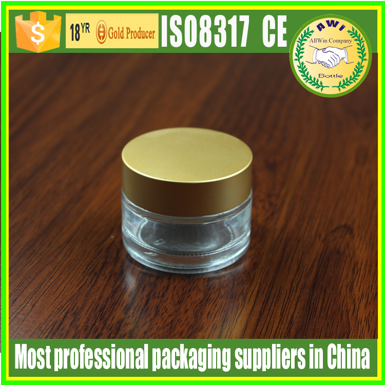 cosmetic glass jar for face cream packing use thick empty candle jars glass with metal lids