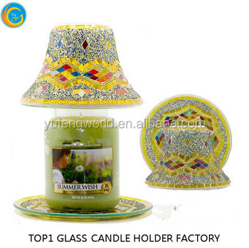 Handmade mosaic candle holder with lamp shade view room handmade mosaic candle holder with lamp shade mozeypictures Gallery