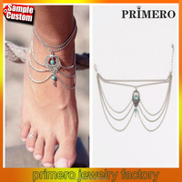 Hot Summer Ankle Bracelet Bohemian Foot Jewelry Turquoise Anklets for Women