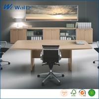 Latest Melamine MDF wooden office manager computer table simple design