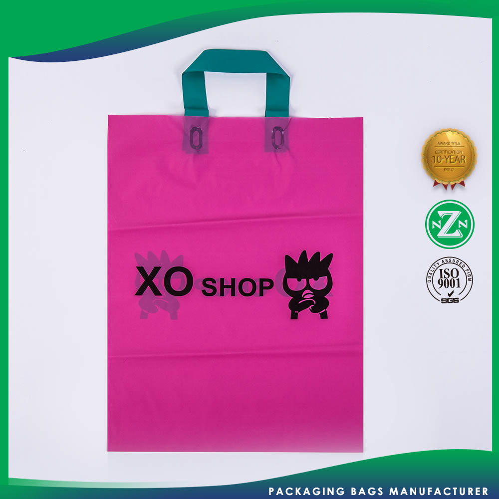 Top Sale Customization Soft Loop Pe Plastic Shopping Retail Bag