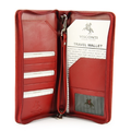 wholesale leather travel organizer wallet for men