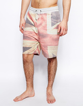 2014 Loungewear Collection lounge short with Union Jack print slant pockets pant