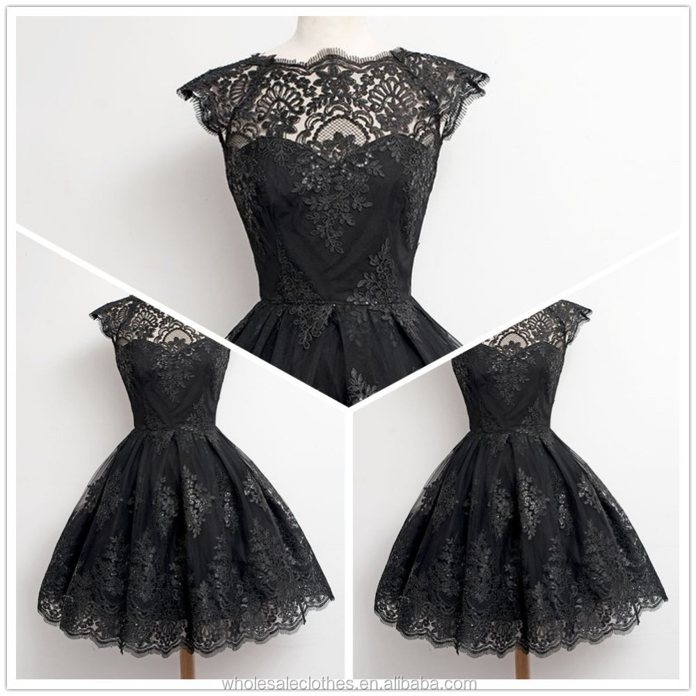 MIKA 5012 Black Party Formal Rockabilly Pin Up Retro Vintage Lace Dress50's