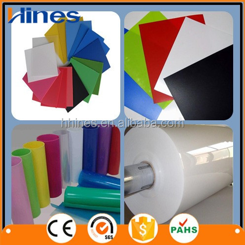 waterproof pvc thin flex banner plastic sheet for kitchen cabinet machine
