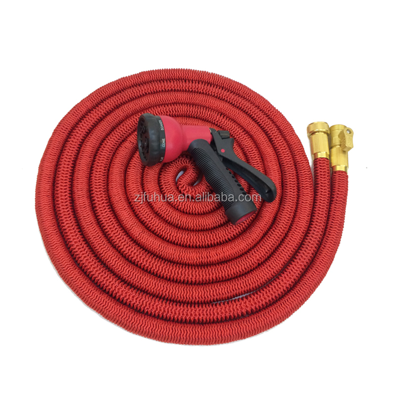 100FT Strongest Double Latex Brass Valve Expandable Hose with sprayer
