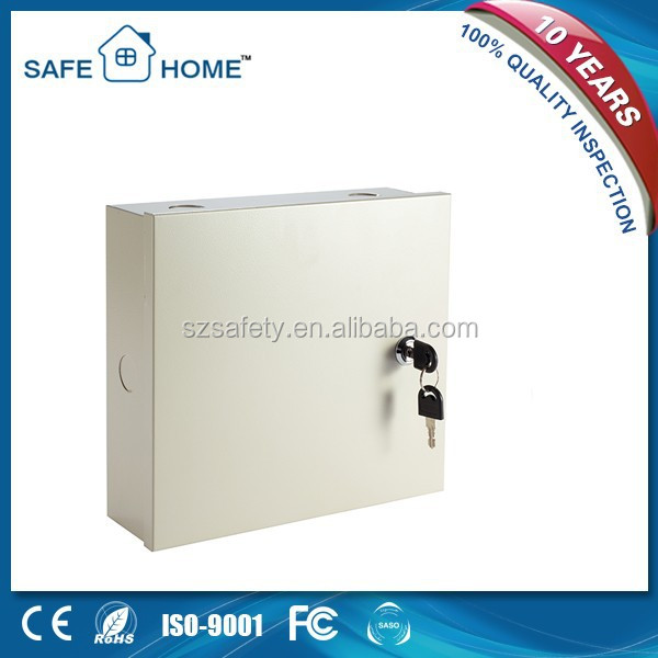 Metal box gsm+pstn dual network burglar alarm system for home security