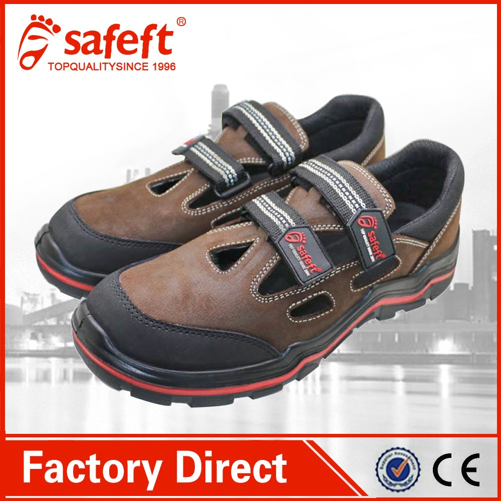 Nubuck leather fashion sandals ruber sole work shoes