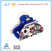 fashion customized printed hair claw clip