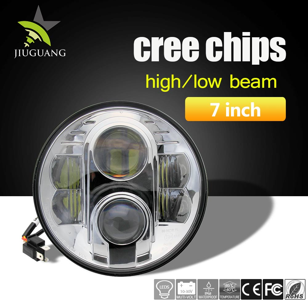Auto parts LED Headlight for Jeep Wrangler Led Lights Round 7 inch Jeep Led Headlight