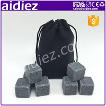 AIDIEZ Whiskey Cool Rock Ice Drink Chilling Stones With Velvet Bag