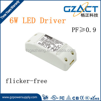 low ripple 3w 6w 500ma led driver isolated high quality 6w led driver