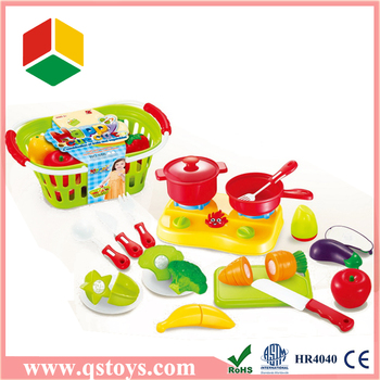 Toy fruit and vegetable kitchen toy set with EN71