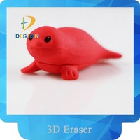 Wholesale YIWU stationery creative Sea lions eco-friendly TPR eraser