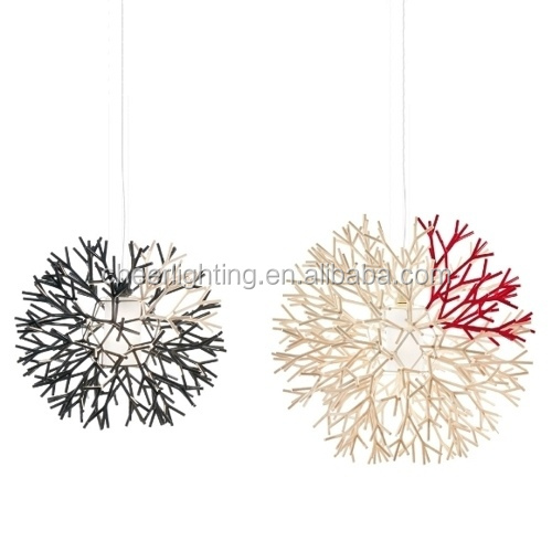 New modern Coral pendant light for modern house hospitality villa
