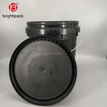 factory direct wholesale high quality food grade 20 liter plastic pail 5 gallon drum big bucket with lid made in china