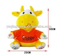 new design singing baby toy with cattle shape