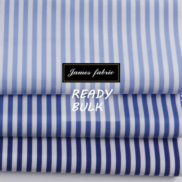 James business delicate blue stripe fabric for men's shirts