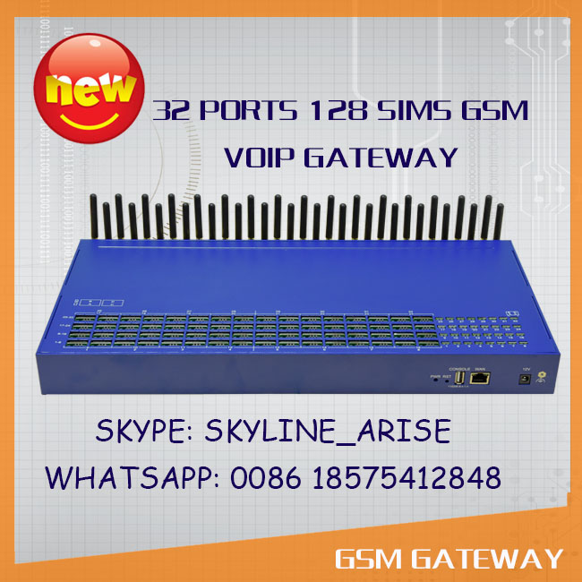 Sale! 32 ports gsm voip gateway 128 sims box gateway for call termination