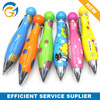 Short Thick Cartoon Style Student Jumbo Plastic Ball Pen