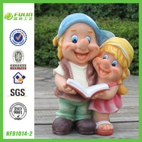 "9"" Small Resin Gnome Couple House Design"
