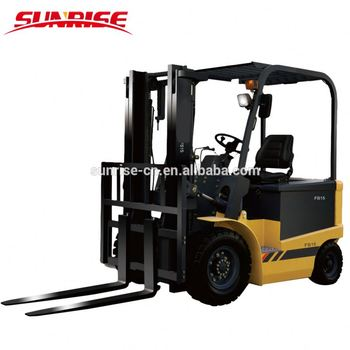 1-3ton Four Wheel electric battery counterbalance Forklift with CE